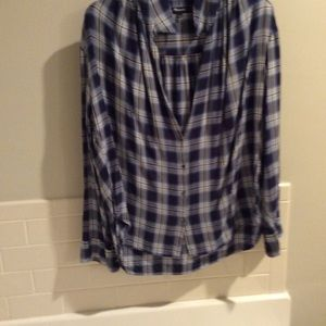 Blue and white checked shirt, Madewell